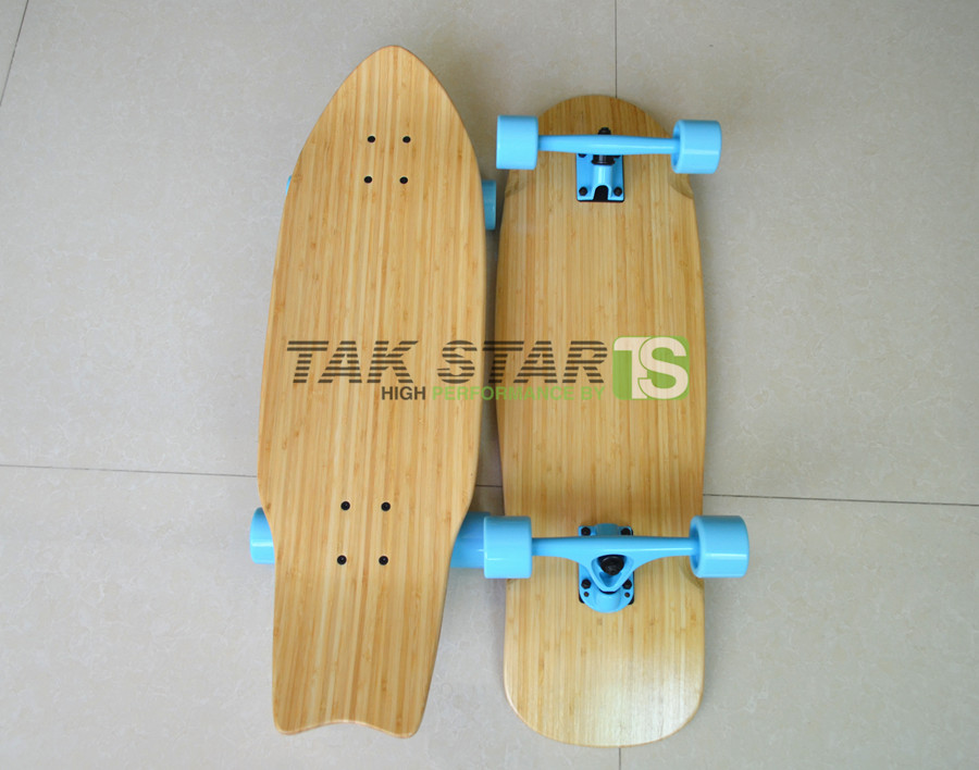 "28"" bamboo old school skateboards, bamboo cruiser skateboards"