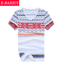 2014 Newly Arrival Snowflakes Printing,Slim,Casual Man T-shirt Short Sleeve Round Neck T-shirt Size (S,M,X,XL,XXL,XXXL) Clothing