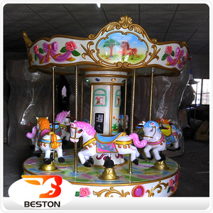 Beston 3 Seats Indoor Electric Amusement Park Toy Kids Mini Christmas Carousel