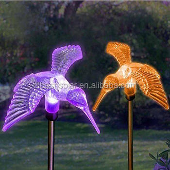 Hummingbirds/dragonfly/sun/butterfly Color Changing LED Solar Stake Lights  For Outdoor Garden