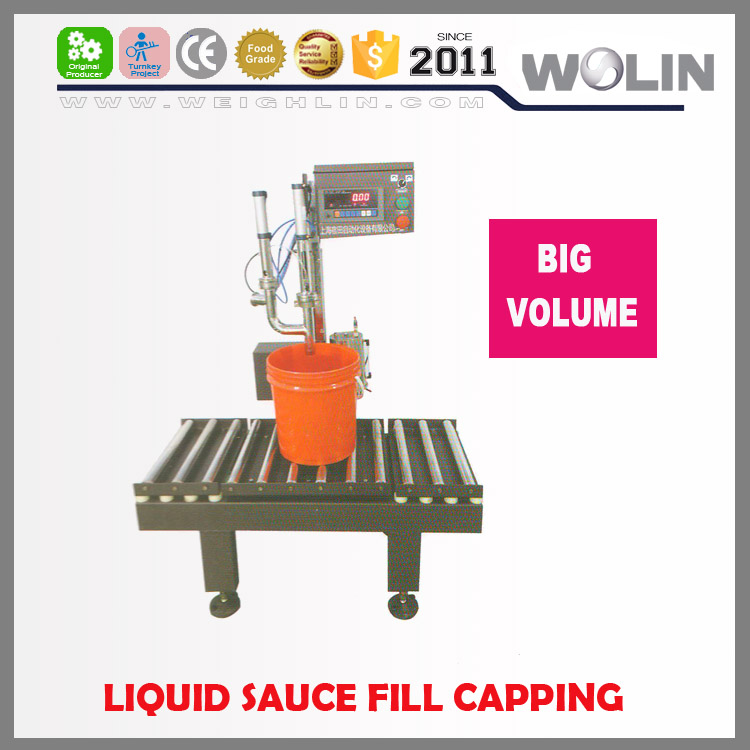 Weighlin semi-auto liquid piston weighing filling machine high accuracy speed 5-200kg small middle big size drum plastic barrel
