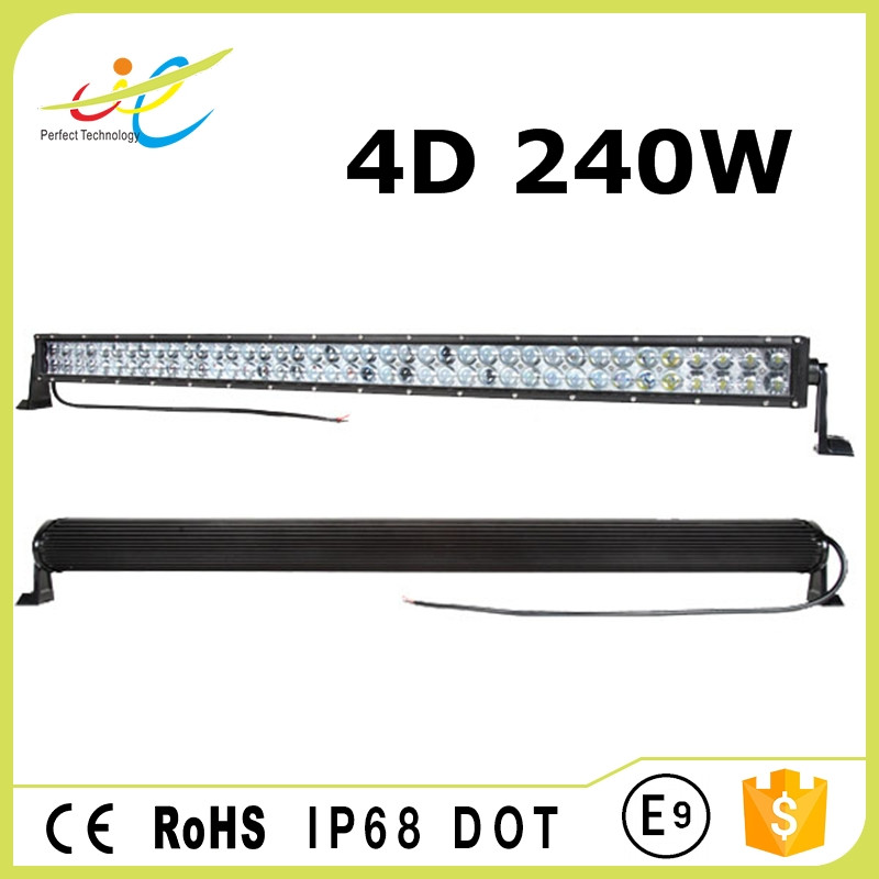 240W 4D straight 10-30v DC 40 led light bar for SUV ATV Jeep 4x4 Offroad