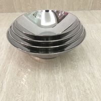 201/304 Stainless Steel Big Mouth Mixing Bowl Insulated Soup Food Bowl Hot Sale