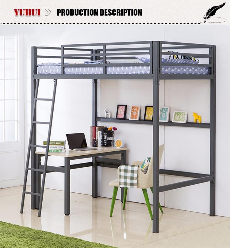 Espacio perfecto uso de metal cama litera con escritorio - Cama con escritorio abajo ...