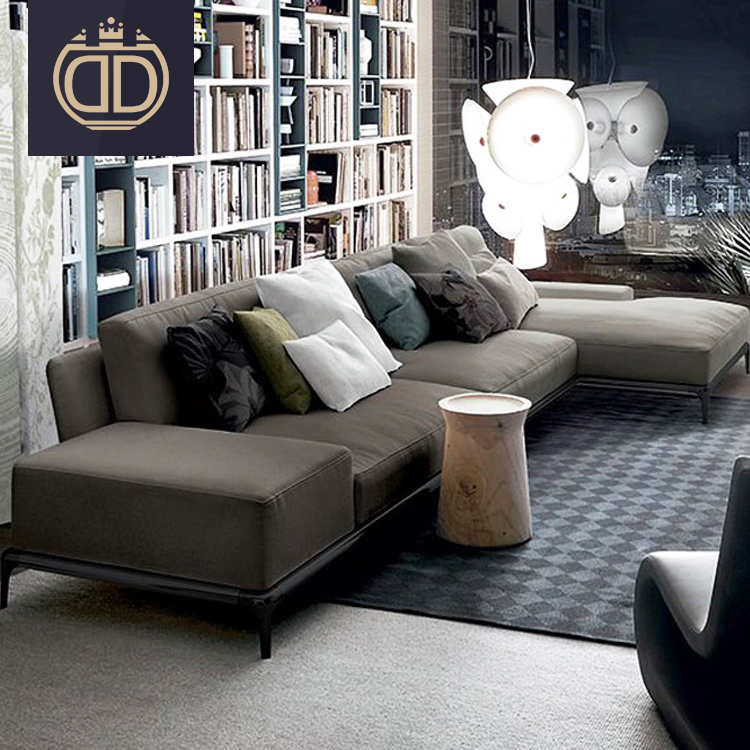 Nordic Luxury Gray Fabric Sectional Sofas Living Room Furniture Light Grey  L Shape Fabric Sectional Sofa Set - Buy Fabric Sofa Set Designs,Modern ...