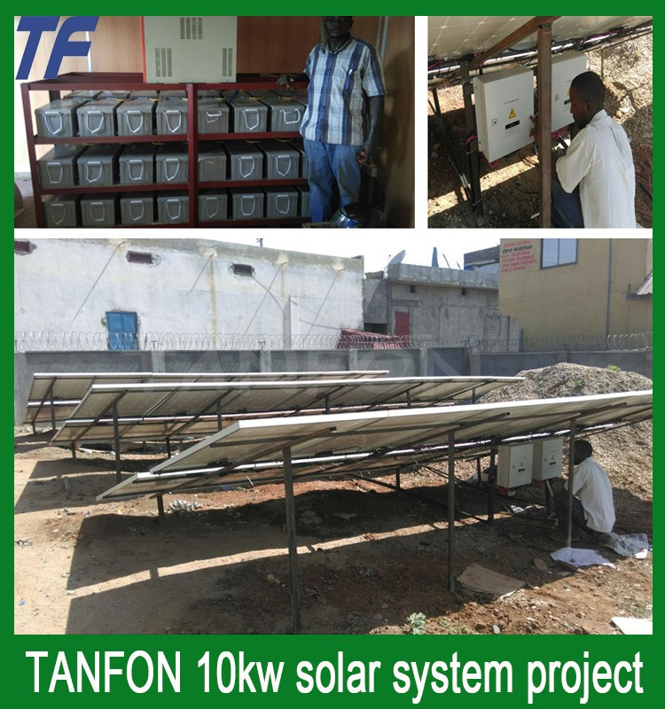Nigeriaes Whole houses High efficiency solar power system on/off-grid 10KW generate 220V~240VAC