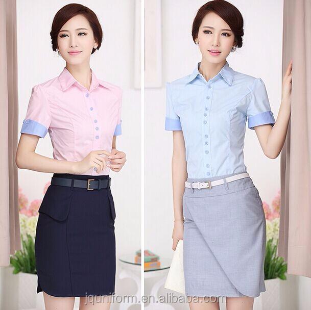 Custom 2016 Fashion Ladies Office Wear Tops Nice Blouse ...