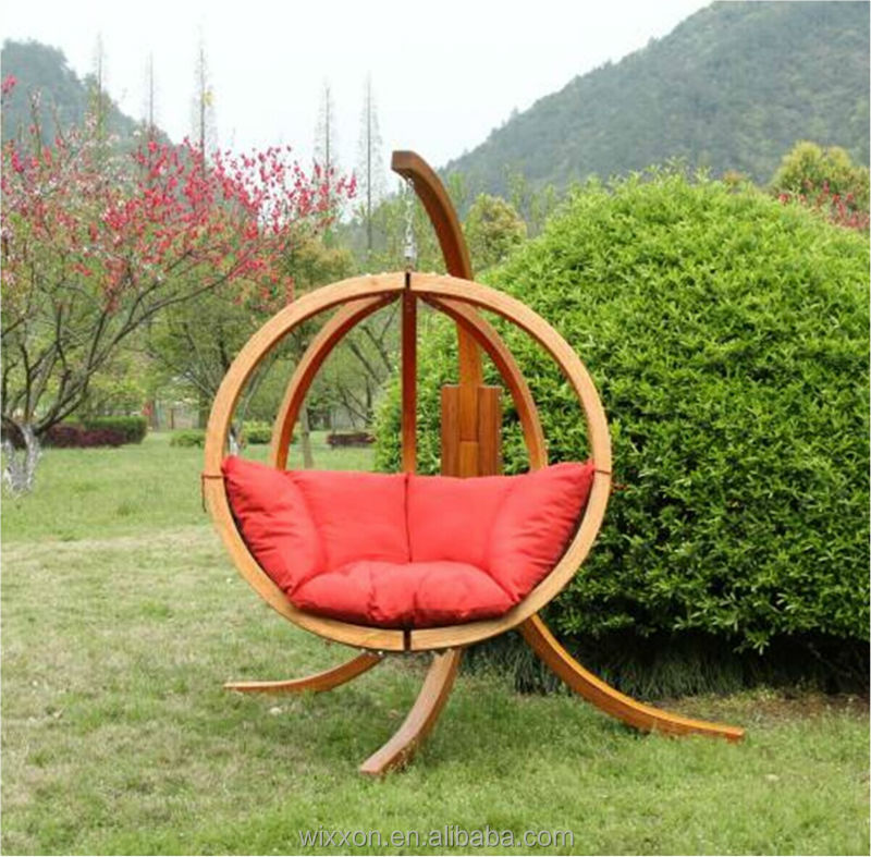 Globo Spruce Wooden Swing Seat And Stand Wooden Swing