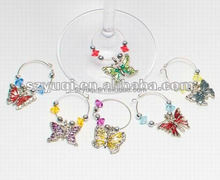 Cheap Butterfly Wine Charms, Decorative wine Glasses Charms, Mini Animal Wine Trap