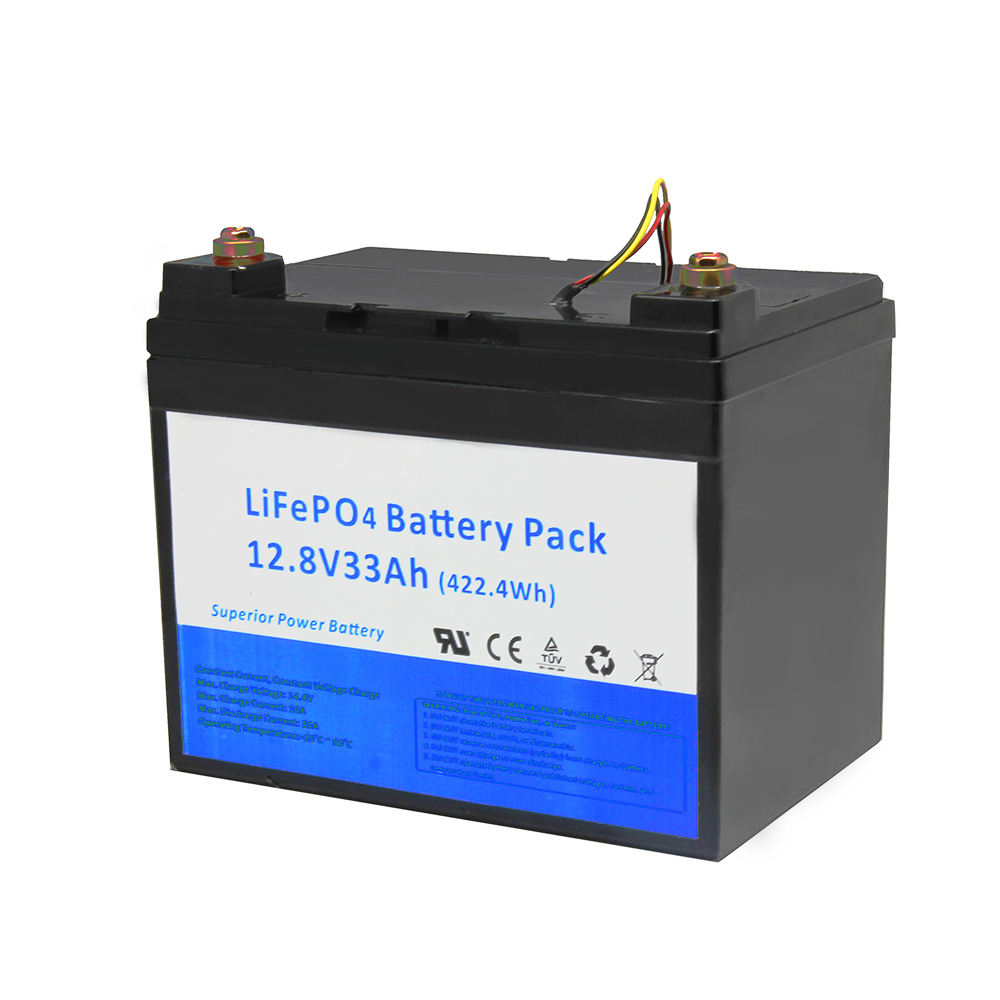 Custom 12V 33Ah LiFePO4 Pack Rechargeable Battery for Energy Storage System