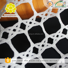 Factory Directly Provide White Polyester Filament Lace Dress Fabric