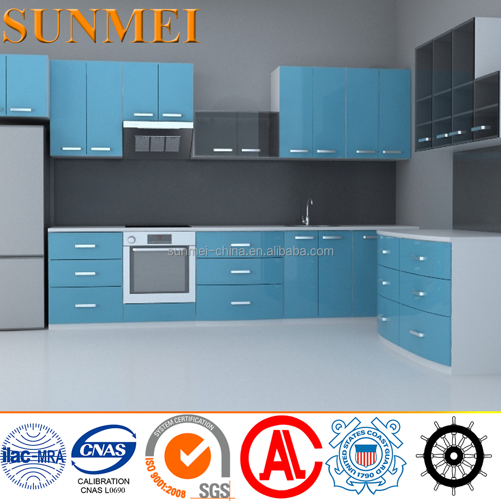 IMO Certificate Aluminum Honeycomb Marine Furniture & Wall Panel kitchen cabinet