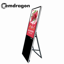 55 inch draagbare LCD Digital Signage <span class=keywords><strong>oem</strong></span> reclame display indoor reclame lcd display zes video engels digital signage