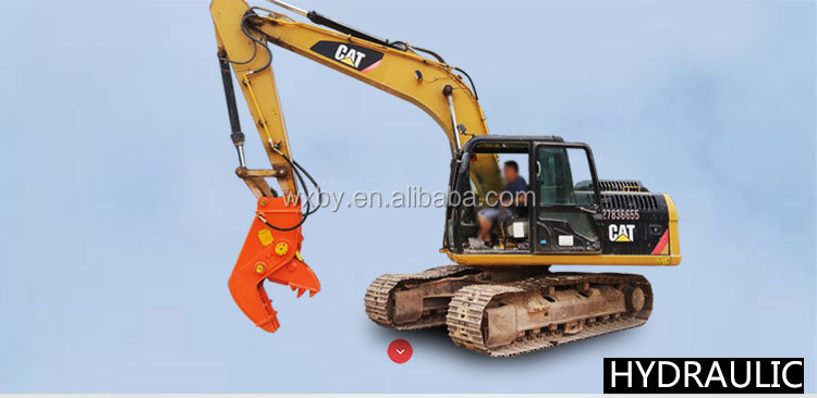 BEIYI hydraulic pulverizer excava attachments concrete cutter for demolition and recycling for Building Secondary Demolition