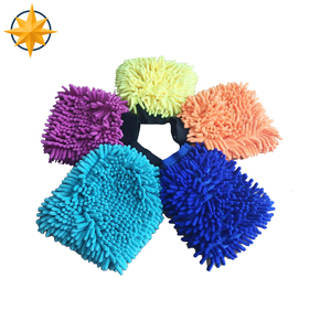 chenille microfiber polishing/cleaning gloves/mitten