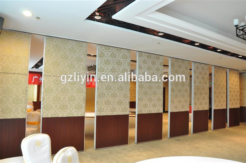 Best Choice SGS/CE soundproof partition sliding wooden movable dividers for rooms