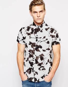 b124d292 Short Sleeve print Shirt/cotton fabric mens casual shirts/men short sleeve  fashion clothing