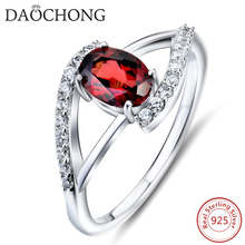 Fast Delivery Most Popular Red Zircon Silver Wedding Rings
