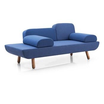 Lazy Boy Sofa Royal Blue Fabric Small Recliner Sofa