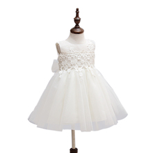 Baby Girl Pageant Wedding Dresses Infant Princess Little Girls 1 Year Birthday Party Dress Newborn Christening