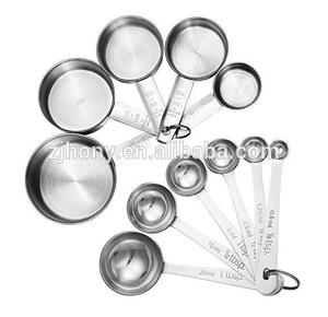 11-Piece Stainless Steel Measuring Spoons Cups Set Premium Stackable Tablespoons Measuring Set