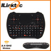 Mini 2.4GHz multi media keyboard Back light led wireless keyboard with air mouse, touchpad, voice for Android TV