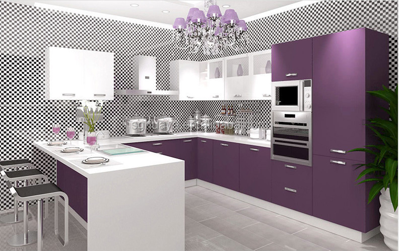2015 new model kitchen cabinet new style popular kitchen cabinet - Violet Kitchen 2015