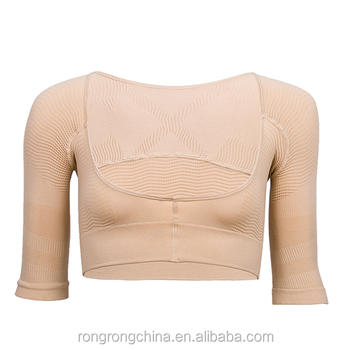 033a924f47d Post-Surgical Arm Compression Vest Women s Shapewear Tops Wear Bra Short  Sleeve Slim Crop Top