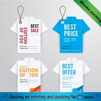 Unique Creative Clothing Paper Hang Tag - Buy Unique Creative ...