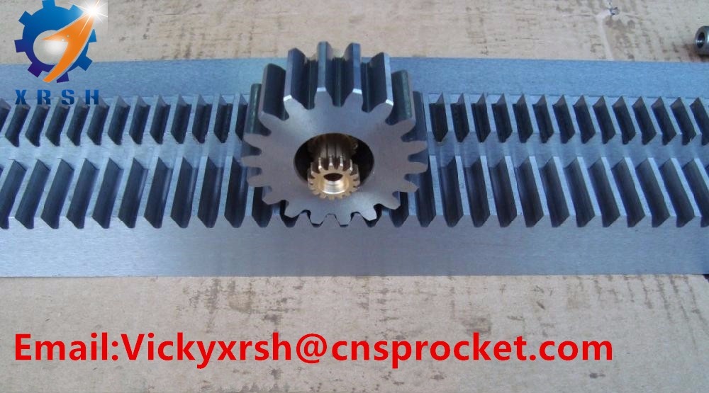 High precision C45 steel CNC gear rack and pinion