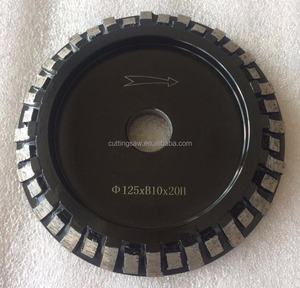 Long Working Edge Grinding Efficiency Full Bullnose Sintered Diamond Profile Wheel