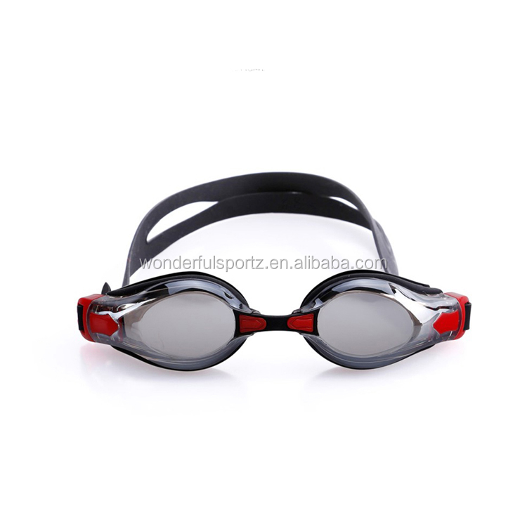 mirrored optical swimming goggles