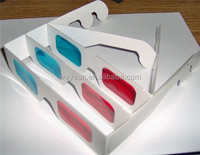 Red Cyan Blue Paper Card 3D 3-D Anaglyph 3D Glasses