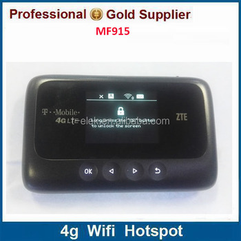 4g Lte Hotspot Zte Z915 Mf915 Band2/b4/b12/b17 Mobile Router - Buy Zte Wifi  Hotspot Router,Support Band17 Lte Wifi Router,Support Lte Band12 Wifi