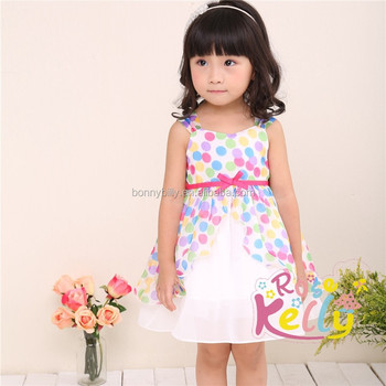 Polka Dot Puffy Children Chiffon Dress Thailand Wholesale Baby