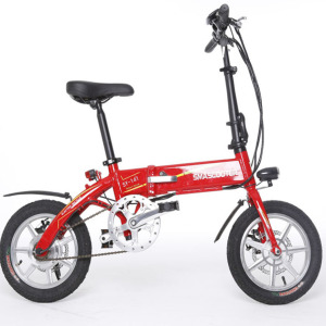 EN14764 14-inch 250W Brushless Motor E-bike Folding Electric Bikes