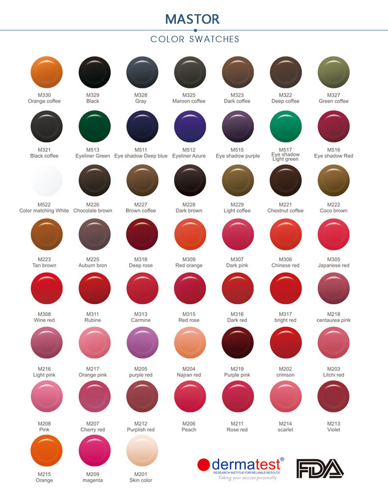 Tattoo Ink Colors >> 52 Colors Eyebrow Tattoo Ink Tattoo Color Eyebrow Ink Eyebrow