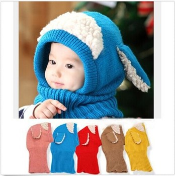 8c2125a1abc Siamese Puppy Scarf Winter New Baby Hat Wool Hat Winter Hat Hot Sale Beanie  Hat Hooded