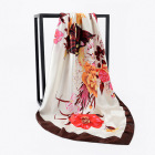 Best seller OEM design 100% silk ladies square scarf manufacturer sale