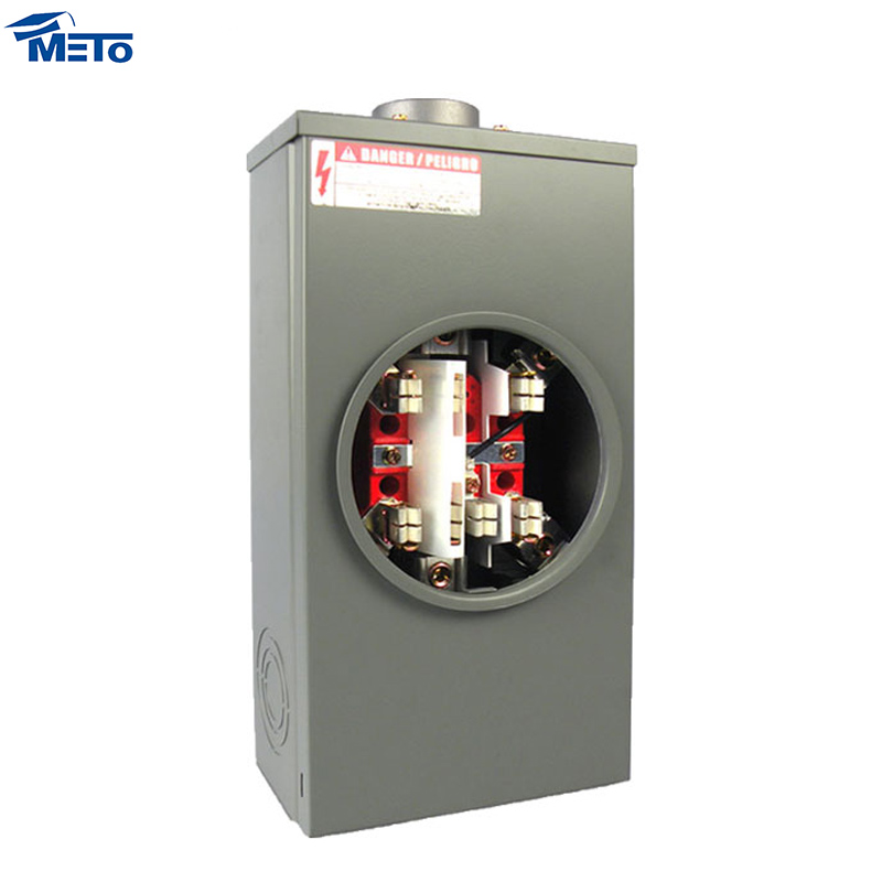 hot sell ansi three phase copper clamp 200 amp square hub meter base