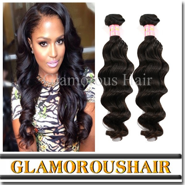 Brazilian Virgin Hair Extenion,100% Unprocessed Natural Wave Hair Extension