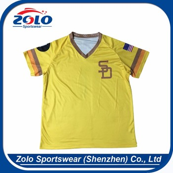 Popular and the newest custom shenzhen baseball uniform