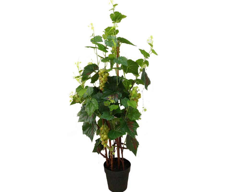 e665755d68b5c Artificial decorativa de vid de uva de la fruta del árbol artificial de uva  con hojas