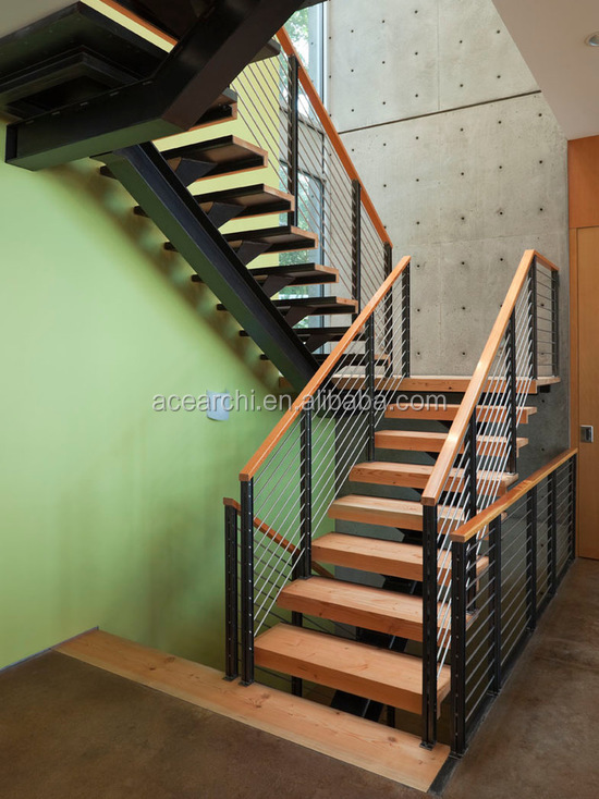 Prefect Design Mono Beam Straight Staircase Handle With Wood Top Handrail View Ace Product Details From Shenzhen Architectural