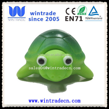 Rubber Turtle Green Color Kids Bath Toy Product On Alibaba