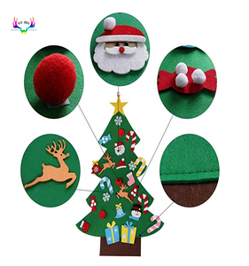 Moresave 3ft DIY Felt Christmas Tree Set with 26 Removable Ornaments Xmas Hand Craft Wall Hanging Christmas Door Decorations for