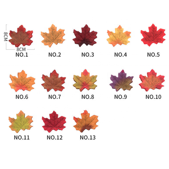 Hot Selling Decorative Plant Silk Fabric Maple Autumn Artificial Maple Leaves