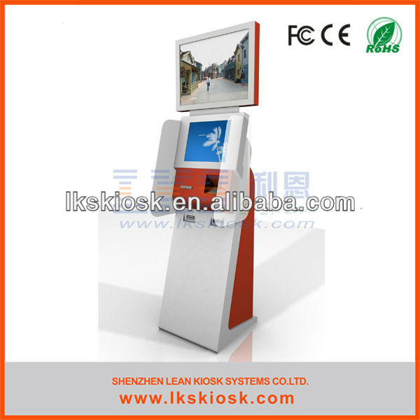 LKS ticket dispensor system with dual screen
