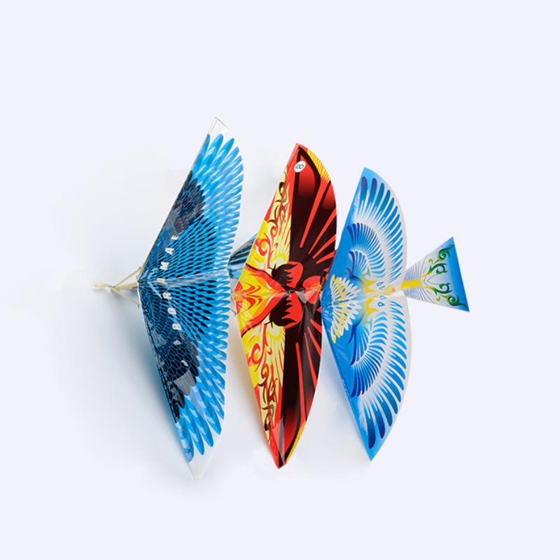 Iron Bird Rubber Powered Ornithopter Flying bird Toys