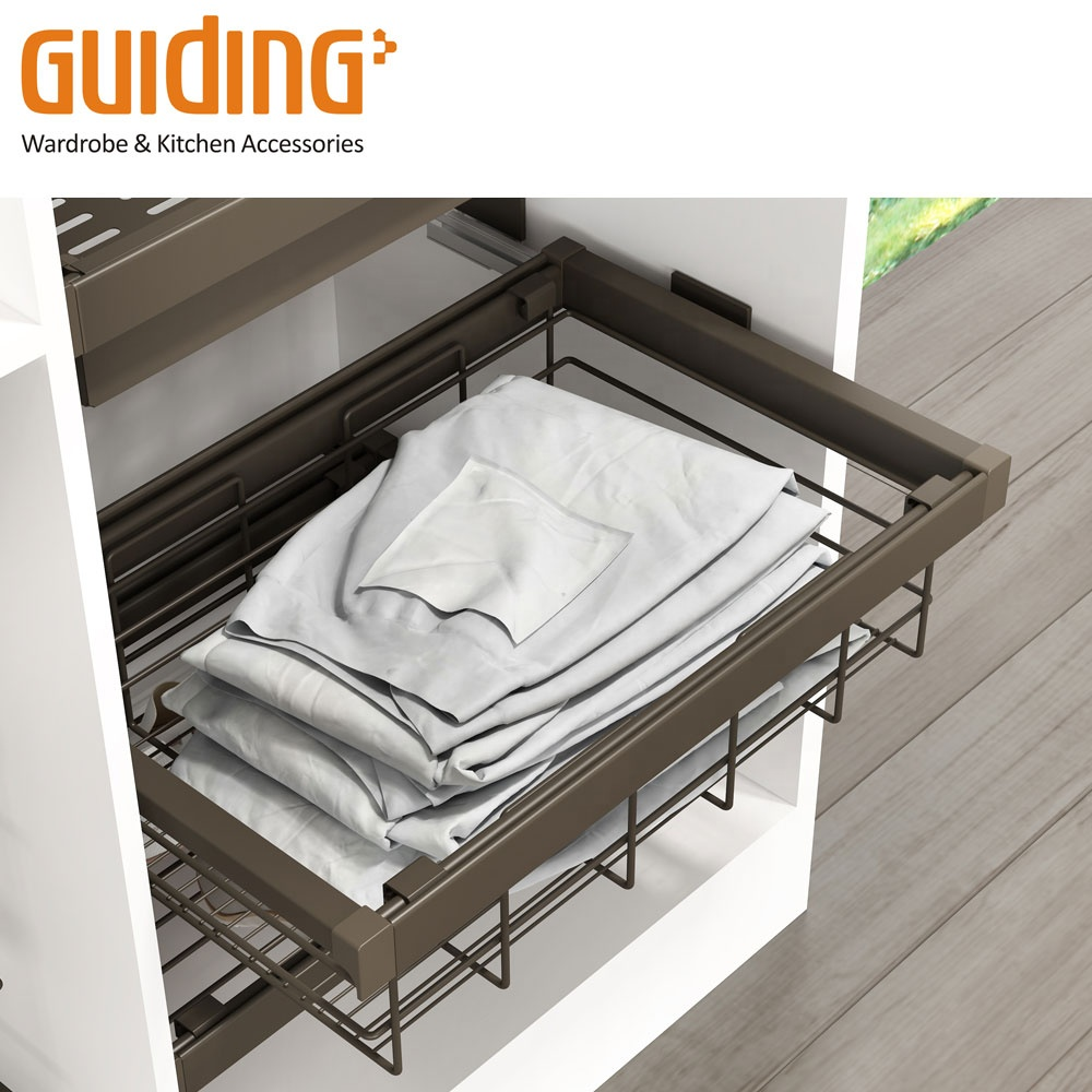 Garderobe high-end storage mand met soft closing slide